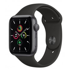 Apple Watch SE 40mm GPS Space Gray Aluminium Case with Black Sport Band (MYDP2)