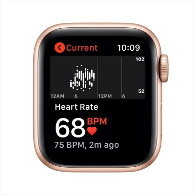 Apple Watch SE 40mm GPS Gold Aluminum Case with Pink Sand Sport Band (MYDN2)