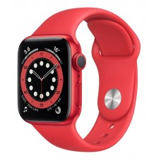 Apple Watch 6 44mm GPS Red Aluminium Case with Red Sport Band (M00M3)