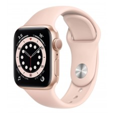 Apple Watch 6 44mm GPS+LTE Gold Aluminium Case with Pink Sand Sport Band (M07G3/MG2D3)