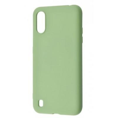 Накладка Samsung A01 Silicone Mint Green