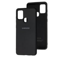 Накладка Samsung A21S (2020) Original Silicon Black