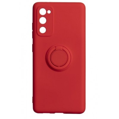Накладка Samsung A21S (2020) Ring Color Red