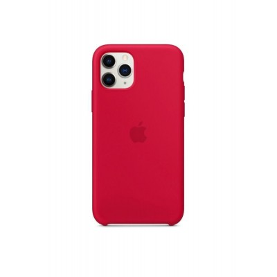 Накладка iPhone 11 Pro Silicone Case Rose Red (Middle)