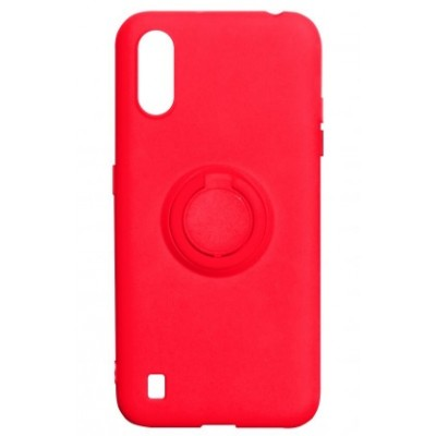 Накладка Samsung A01 Ring Color Red