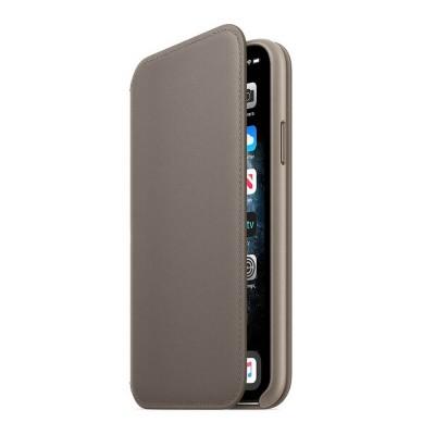 Книжка iPhone Xs Max Leather Folio Chaecord Grey