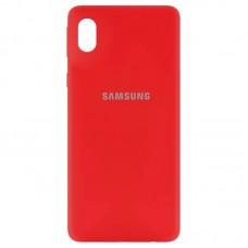Накладка Samsung Galaxy A01 Core Silicone Case Red