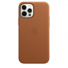Накладка Apple iPhone 12 Pro Max Leather Case Magsafe Brown