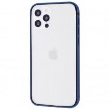 Бампер iPhone 12/12 Pro Evogue Metal Navy Blue