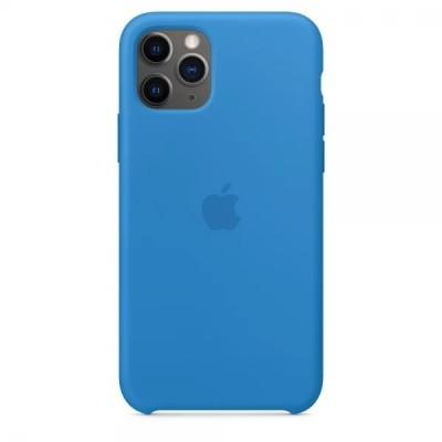 Накладка iPhone 11 Pro Max Silicone Case Surf Blue