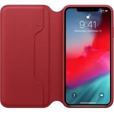 Книжка iPhone Xs Max Leather Folio Red