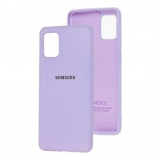 Накладка Samsung Galaxy A02S (A025) Silicone Case Lilac