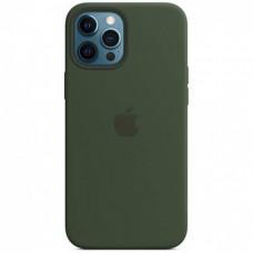 Накладка Apple iPhone 12 Pro Max Silicone Case Magsafe Dark Green