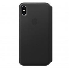 Книжка iPhone Xs Max Leather Folio Black