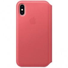 Книжка iPhone Xs Max Leather Folio Pink