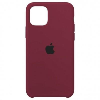 Накладка iPhone 11 Silicone Case Marsala (HC)