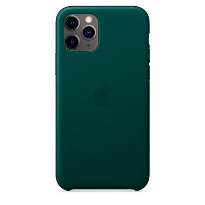 Накладка iPhone 11 Pro Max Leather Case (HC) Green