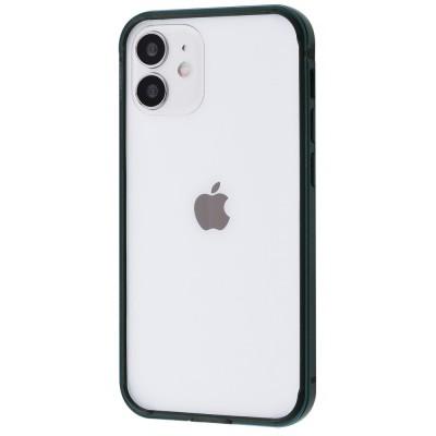 Бампер iPhone 12/12 Pro Evogue Metal Midnight Green