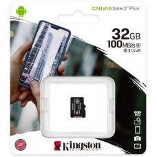 Карта пам'яті MicroSD 32 Gb (class10) UHS-I Canvas Select Plus А1 (R-100MB/s) Kingston