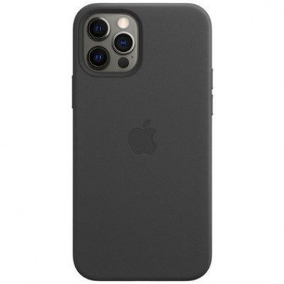 Накладка Apple iPhone 12 Pro Max Leather Case Magsafe Black