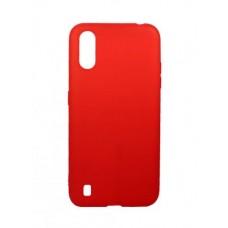 Накладка Samsung A01 Full Soft Case Red