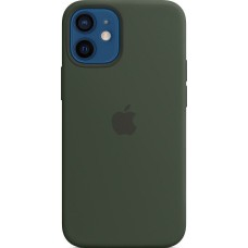Накладка Apple iPhone 12 Mini Silicone Case Magsafe Dark Green