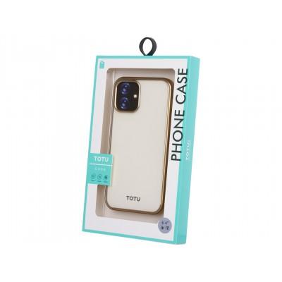 Накладка iPhone 12 mini Totu Transparent Gold