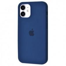 Накладка Apple iPhone 12 Mini Silicone Case Blue Cobalt