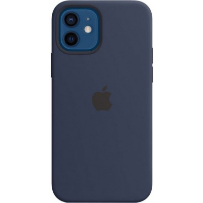 Накладка Apple iPhone 12/12 Pro Silicone Case Magsafe Navy Blue