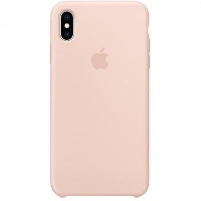 Накладка iPhone X Silicone Case Pink Sand