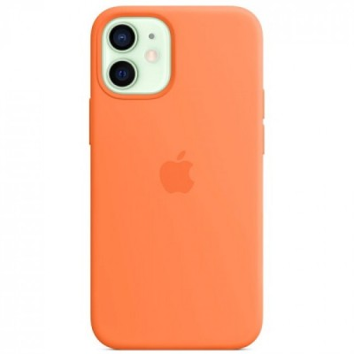 Накладка Apple iPhone 12 Mini Silicone Case Magsafe Golden Orange