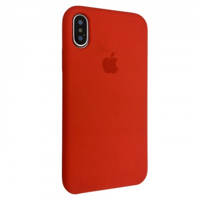 Накладка iPhone X/XS Silicone Case Red (Middle)