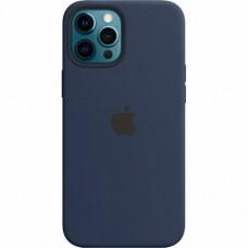 Накладка Silicone Case для Apple iPhone 12 Pro Max Midnight Blue (Middle)
