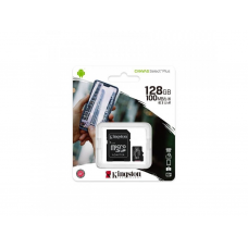 Карта пам'яті MicroSD 128 Gb + SD (class10) UHS-l Canvas Select Plus А1 (R-100MB/s) Kingston