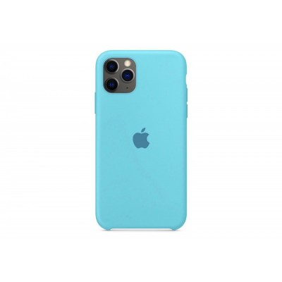 Накладка iPhone 11 Pro Max Silicone Case Azure (Middle)