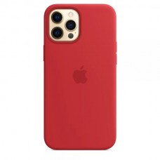 Накладка Silicone Case для Apple iPhone 12 Pro/12 Max Red (Middle)