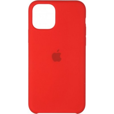 Накладка iPhone 11 Pro Silicone Case Red (Middle)
