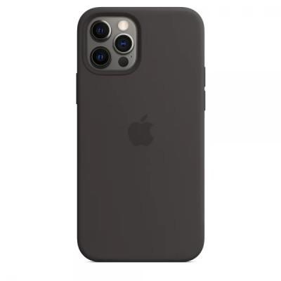 Накладка Apple iPhone 12 Silicone Case Black (Middle)