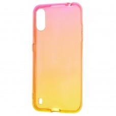 Накладка Samsung Galaxy A01 Core Gradient Design Red/Yellow