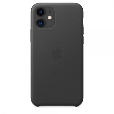 Накладка iPhone 11 Leather Case Black