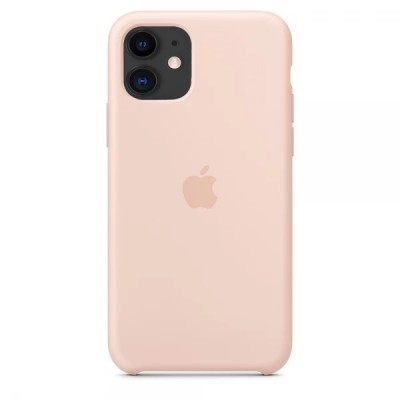 Накладка iPhone 11 Silicone Case Pink Sand (Middle)