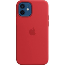Накладка Apple iPhone 12 Silicone Case Red (Middle)
